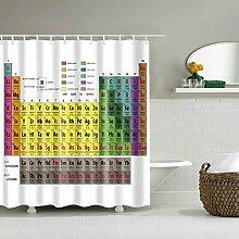 Periodensystem Duschvorhang Anti-Schimmel &