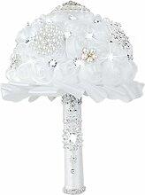 Perle Kristall Rose Bouquet Hochzeit Braut