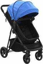 Perle Rare 2-in-1 Buggy/Kinderwagen Blau und