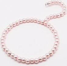 Perlen Kleiderbügel Tuchbügel – 2 Stück – Farbe rosa