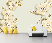 Perlen Schmuck 3D Tapeten -350Cmx250Cm Blume