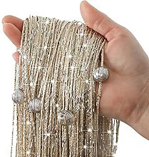Perlenschnurvorhang Raumteiler Fadenvorhang mit