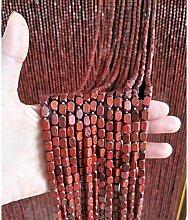 Perlenvorhang Türvorhang PENGFEI Holzperlen