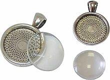 Perlin - 12 Set Metall Anhänger Fassungen und