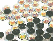 Perlin 720 Stück Hot Fix 6mm Glas Flache