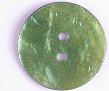 Perlmuttknopf, 13mm, grün, zweiloch