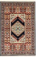 Perser Design Teppich Azar Navy Blau 225x 150cm 7,4x 4,9Ft traditionellen Teppich