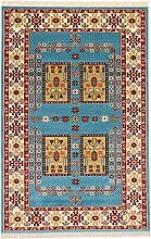 Perser Design Teppich Qashqai Blau 150x 100cm 4,9x 3,3ft traditionellen Teppich