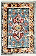 Perser Design Teppich Touba blau 150x 100cm 4,9x 3,3ft traditionellen Teppich