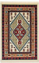 Persian Qashqai Arta Design Teppich Große Medium Kleine Läufer Teppiche Rot Blau, Marineblau, Creme und Gold Teppich Traditionelles Design erhältlich für Lieferung am nächsten Tag, Polypropylen, beige, 300X200 CM 9.8X6.6 FT