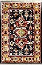 Persian Qashqai Touba Design Teppich Große Medium Kleine Läufer Teppiche Rot Blau, Marineblau, Creme und Gold Teppich Traditionelles Design erhältlich für Lieferung am nächsten Tag, Polypropylen, marineblau, 300X200 CM 9.8X6.6 FT
