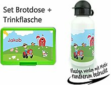 persönliche Brotdose Lunchbox Trinkflasche aus