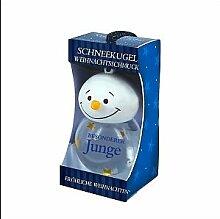 Persönliche Schneekugel On a snowy Night Weihnachtskugel Für immer Freunde Schneemann blau