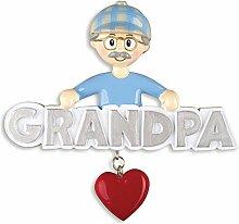 Persönliches Christmas Ornaments Family general-grandpa mit Herz - DO-IT-YOURSELF Ki
