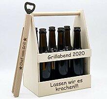 Persönliches Grill-Set = Bierträger + Grillzange