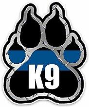 Persönlichkeit Auto Aufkleber Polizei K9 Pfote