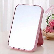 Persönlichkeit Design Spiegel, HD-einseitige Kosmetikspiegel Kosmetikspiegel Falten square Spiegel einfach Mode, Pink