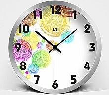Persönlichkeit mode Moderne schmiedeeiserne Stil Einfache Uhr Mute/Kreative Malerei Wohnzimmer Wanduhr Uhren/Kunst Uhren Wanduhr