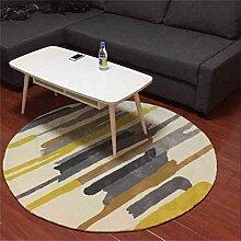 Persönlichkeit Mode Streifen Rundschreiben Teppich Einfach und Modern Wohnzimmer Schlafzimmer Teppich Haushalt Schallisoliert Teppich ( größe : Diameter 120cm )