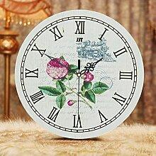 Persönlichkeit Mode, zeitgenössische europäische Kreative Wohnzimmer ruhig- Quarz Wanduhr Wanduhr/Modern/Eastern Mediterranean Garden Vintage Uhren , 800