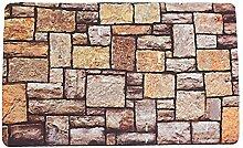 Persönlichkeit Stein Druck Matten Bad Küche Wohnzimmer Saugfähig Rutschfeste Matte,B-45*75cm