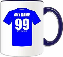 Personalised Gift - Oldham Athletic Mug (Football Club Design Theme, Colour Options) - Any Name / Message on Your Unique Mug - The Latics AFC by UniGif
