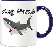 Personalised Gift - Shark Mug (Animal Design Theme, Colour Options) - Any Name / Message on Your Unique Mug by UniGif