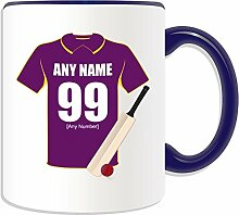 Personalised Gift - Yorkshire County Mug (Cricket Club Design Theme, Colour Options) - Any Name / Message on Your Unique Mug - Yorkshire Vikings Carnegie Phoenix Colts by UniGif
