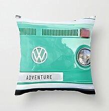 personalisierbar Adventure Wolkswagen. Summer Dreams. Grün Leinwandbild Werfen Kissenbezüge Home D ¨ ¦ cor für Sofa Kissen 18x 18
