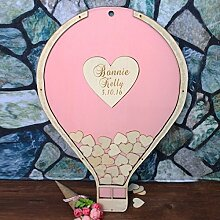personalisierbar Ballon Hochzeit Gästebuch