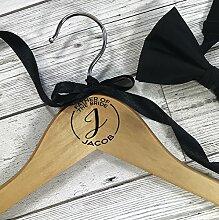 personalisierbar Kleiderbügel aus Holz für