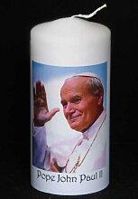 personalisierbar Papst Johannes Paul II Kerze