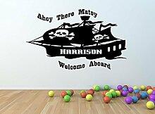 personalisierbar Piratenschiff Vinyl Wand Kunst
