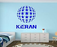 personalisierbar Star Globe Vinyl Wall Art