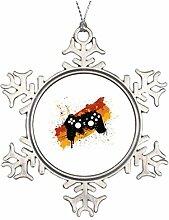 personalisierbar Weihnachten Weihnachtsbaumschmuck Pad Graffiti–Gaming Video Spiele Gamer natur Weihnachten Schneeflocke ornaments Gamer