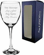 personalisierbar Weinglas mit Gravur Hochzeit