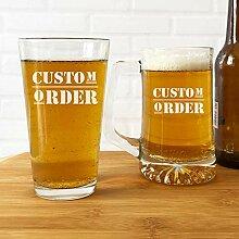 Personalisierbare Bestellung, Bierglas, Bierglas