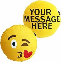 personalisierbares Deluxe-Emoji-Kissen, Fleece /