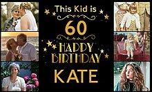 Personalisierbares Geburtstagsbanner für Kinder