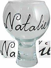 Personalisiert Gin & Tonic Glas mit Kristallen -