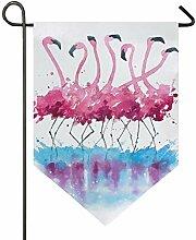 Personalisierte Banner Flamingos rosa Malerei