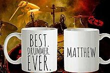 PERSONALISIERTE BEST DRUMMER Ever Coffee Mug