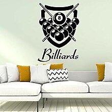 Personalisierte Billard Wandkunst Aufkleber
