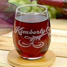 Personalisierte Direct Personalisierte Weinglas