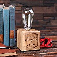 Personalisierte Edison-Lampe mit Vintage-Glühbirne