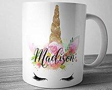 Personalisierte Einhorn-Tasse Einhorn Kaffeetasse