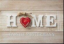 Personalisierte Fußmatte Home mit Ihrem Namen
