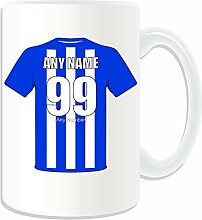 Personalisierte Geschenkbox, Brighton and Hove Albion Becher/Tasse, Motiv: Football Club Design, Weiß, Jeder Name Und Nachricht auf Das Einzigartige Tasse-Seagulls Albion