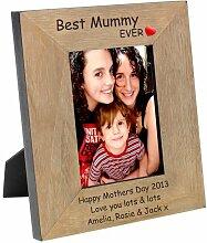 Personalisierte Gravur Best Mummy Ever x 15.24 cm
