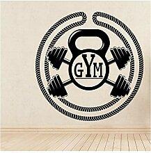 Personalisierte Gym Art Aufkleber Wasserdichte